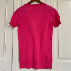 J. Crew Sweaters - J crew pink short sleeved cardigan. Worn 3x.
